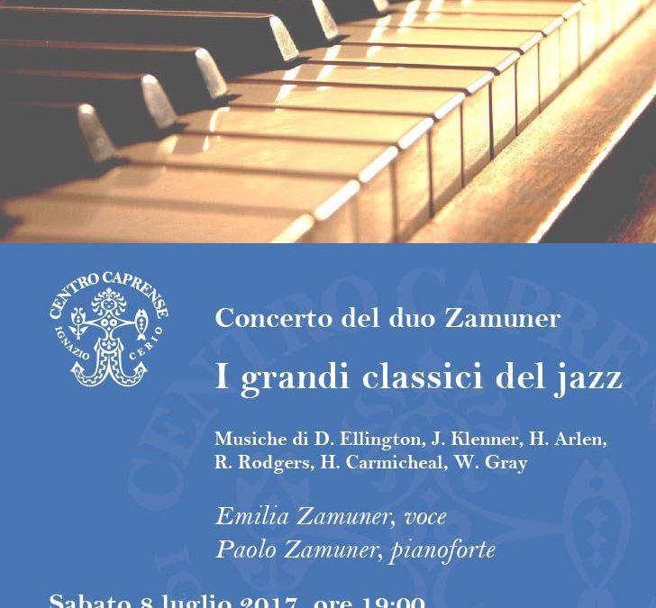 I grandi classici del jazz, sabato 8 luglio alle 19:00