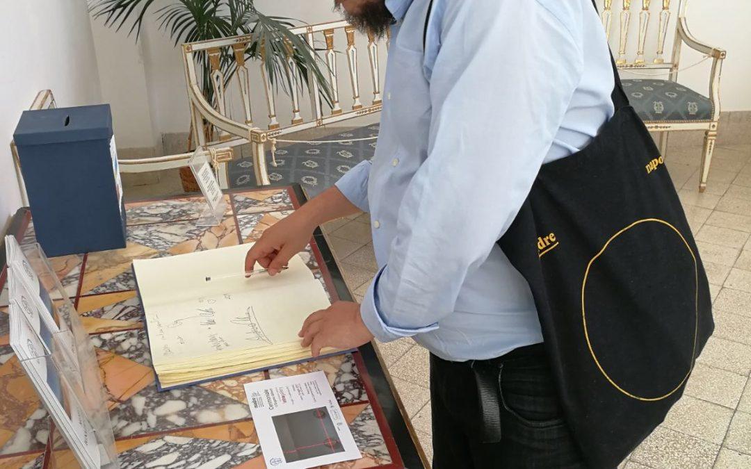 Andrea Viliani, direttore del museo MADRE, in visita al Museo Cerio