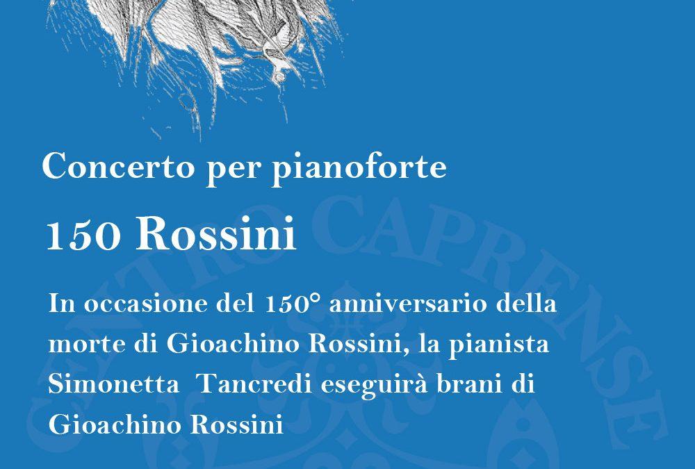 Concerto 150 Rossini, 30 aprile alle 18:00