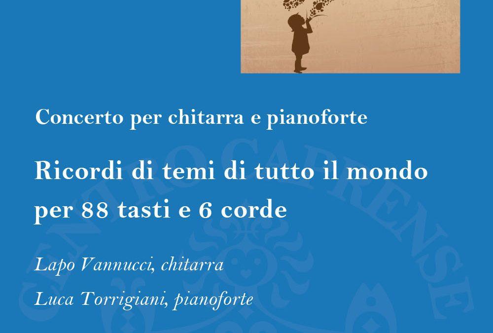 Concerto Ricordi di temi di tutto il mondo per 88 tasti e 6 corde, sabato 26 maggio alle 18:00