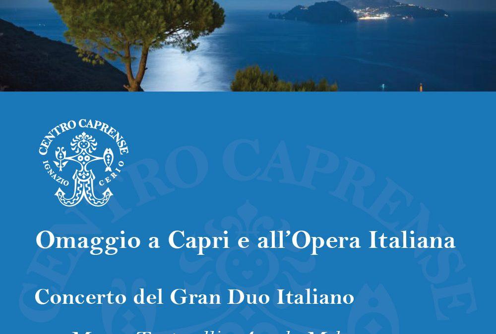 Gran Duo Italiano in concerto, domenica 12 agosto alle 19:00