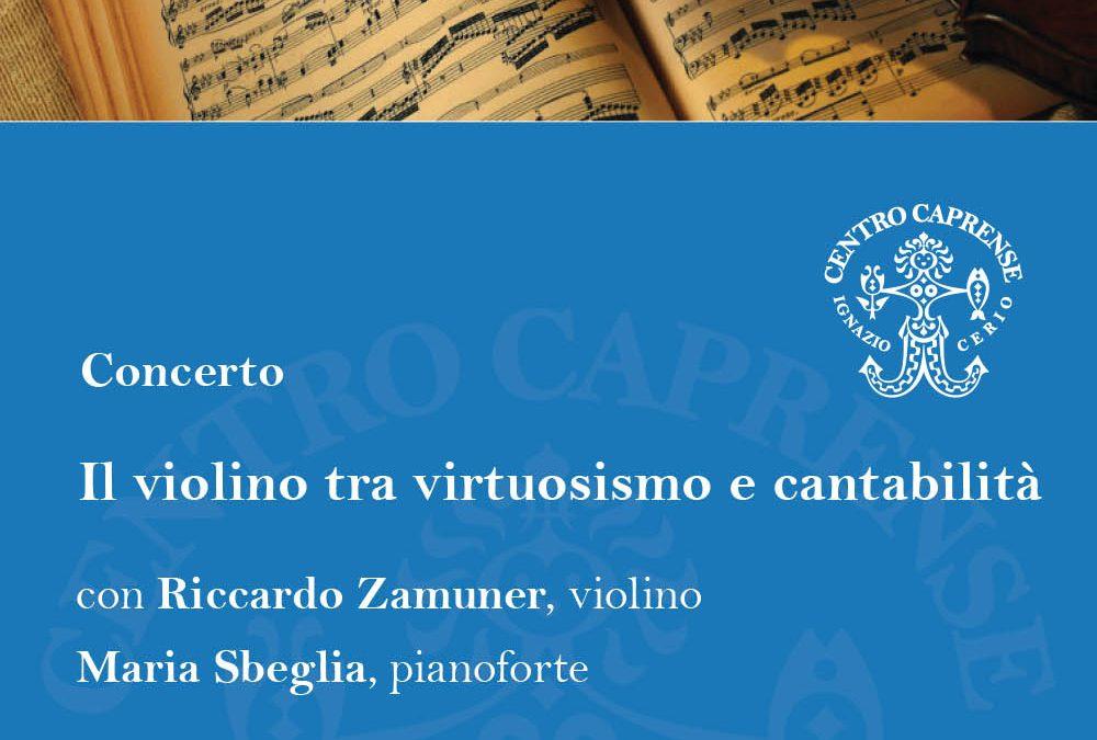 Il violino tra virtuosismo e cantabilità, venerdì 31 agosto alle 19:00