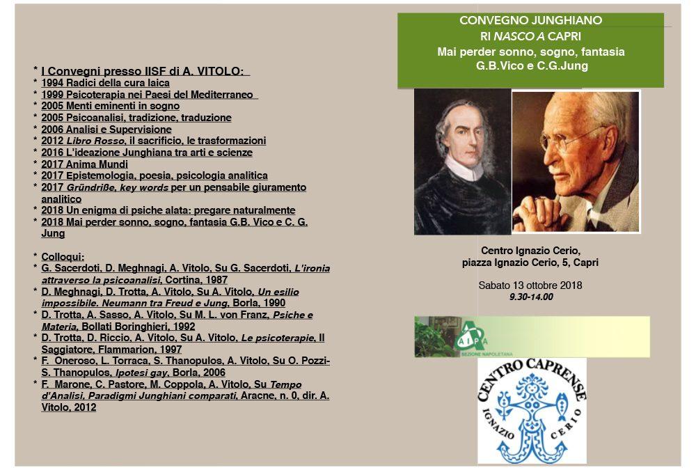 Convegno Junghiano RINASCO A CAPRI, sabato 13 ottobre 2018