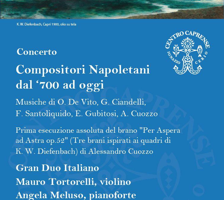 I quadri di Karl W. Diefenbach diventano musica in una prima esecuzione assoluta del Gran Duo Italiano a Capri