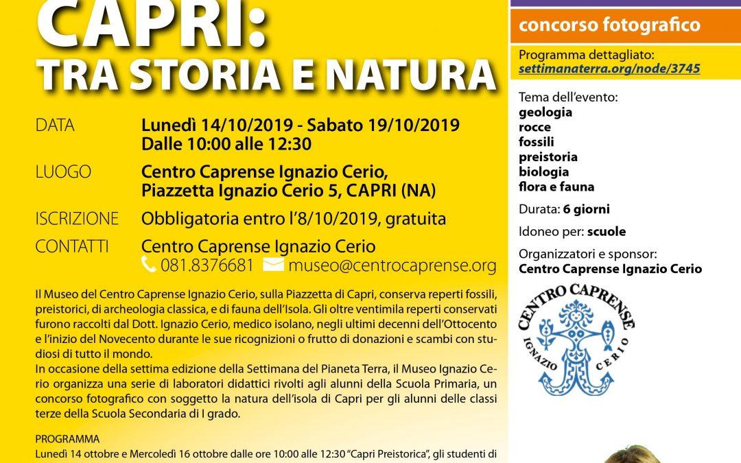 Settimana del Pianeta Terra 2019 al Centro Caprense Ignazio Cerio