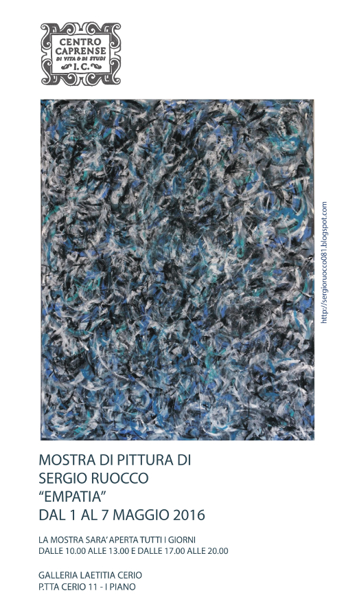 Mostra dell'artista Sergio Ruocco