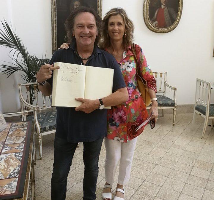 Red Canzian in visita al Museo Ignazio Cerio di Capri