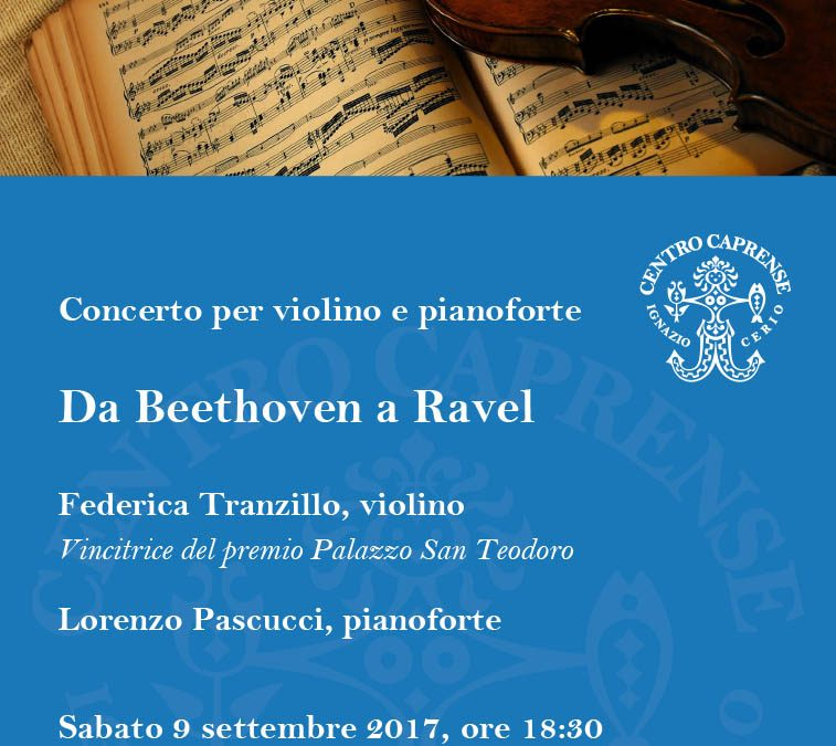 Concerto Da Beethoven a Ravel, sabato 9 settembre alle 18:30