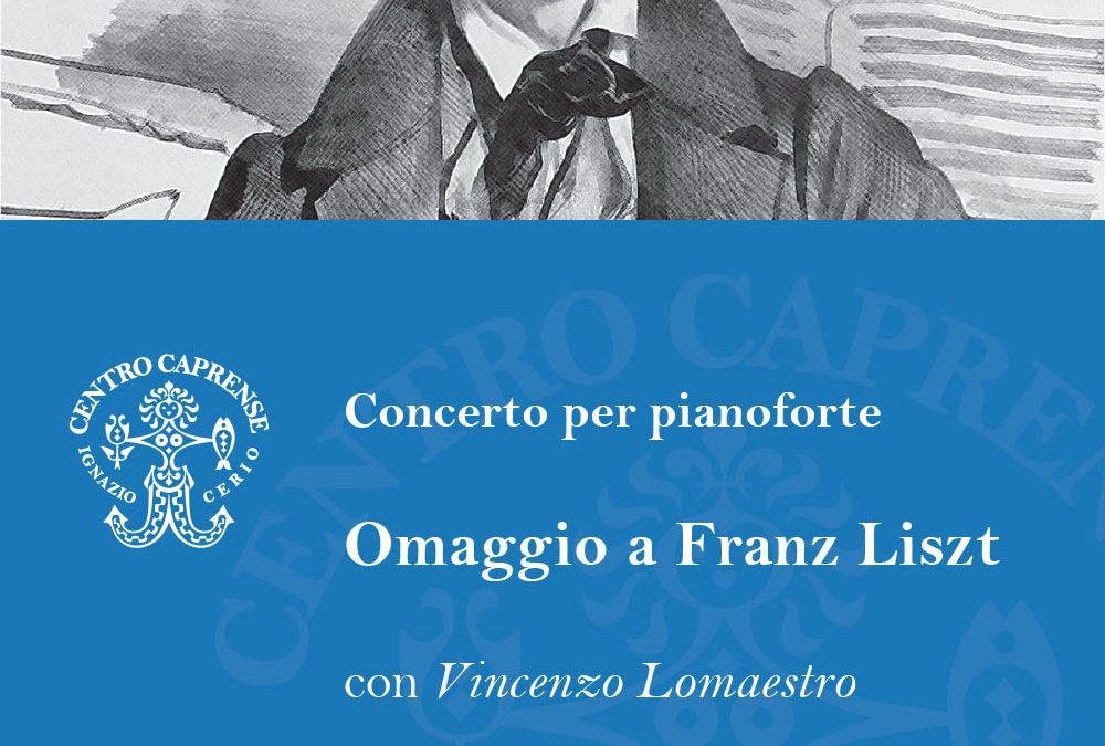 Omaggio a Franz Liszt, venerdì 13 luglio alle 19:00