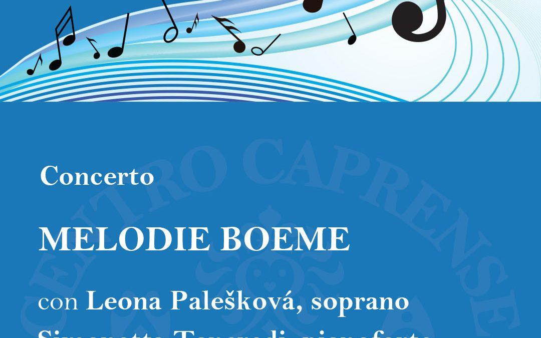 Melodie Boeme al Centro Caprense, sabato 11 maggio ore 18:00
