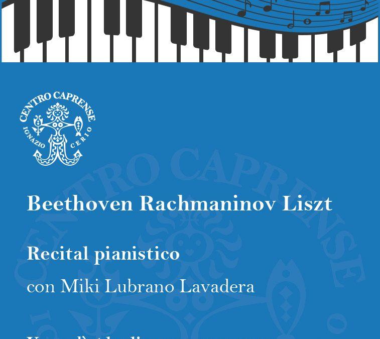 Beethoven Rachmaninov Liszt venerdì 5 luglio alle ore 19:00