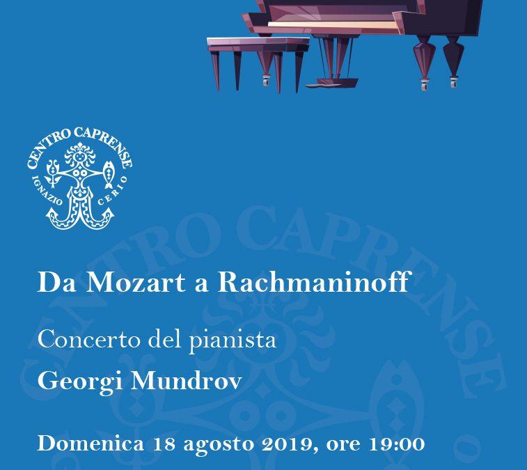 Da Mozart a Rachmaninoff, domenica 18 agosto 2019