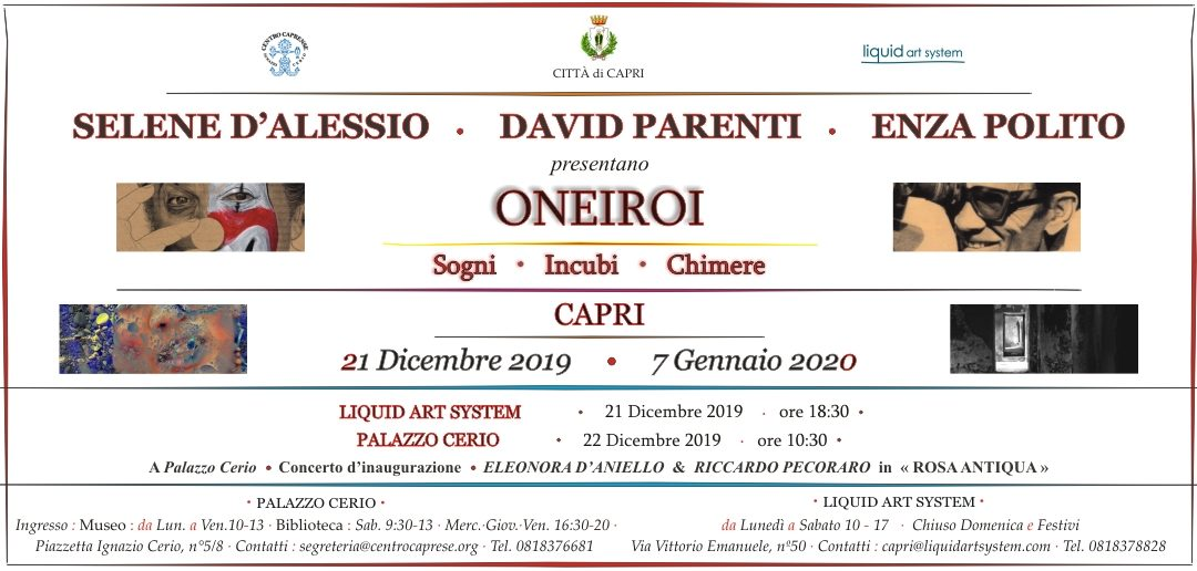 ONEIROI: sogni, incubi e chimere, dal 21 dicembre al 7 gennaio
