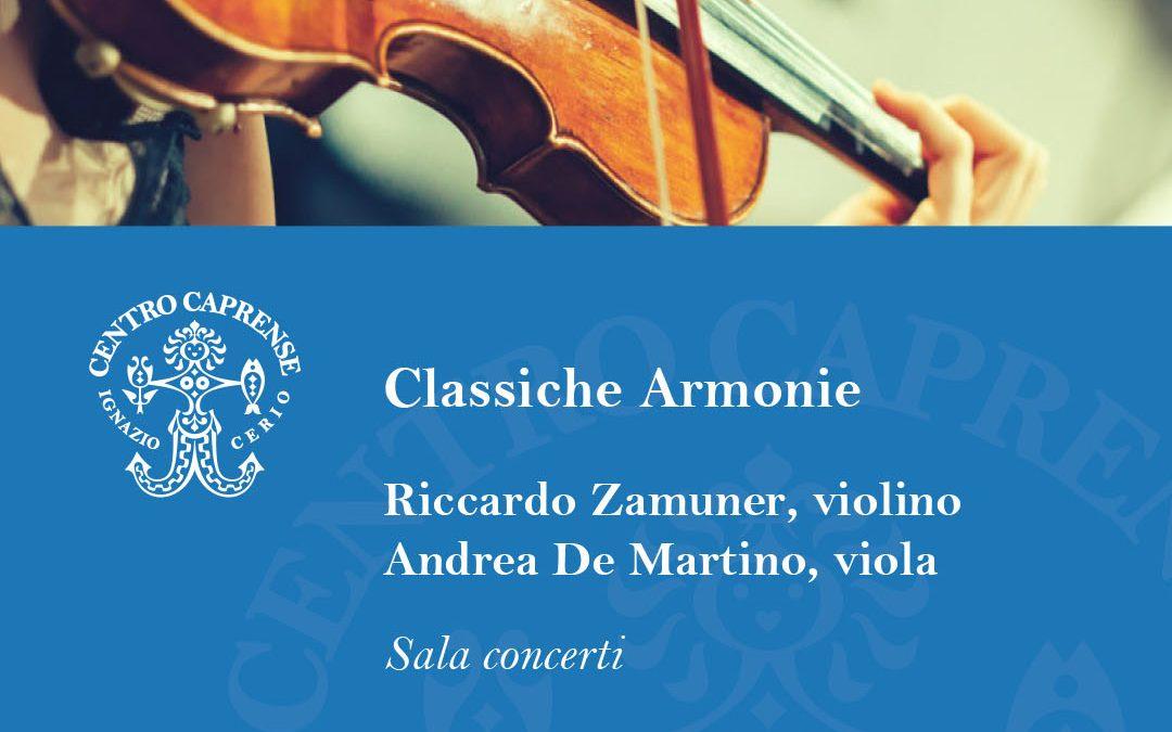 Concerto Classiche Armonie venerdì 14 agosto