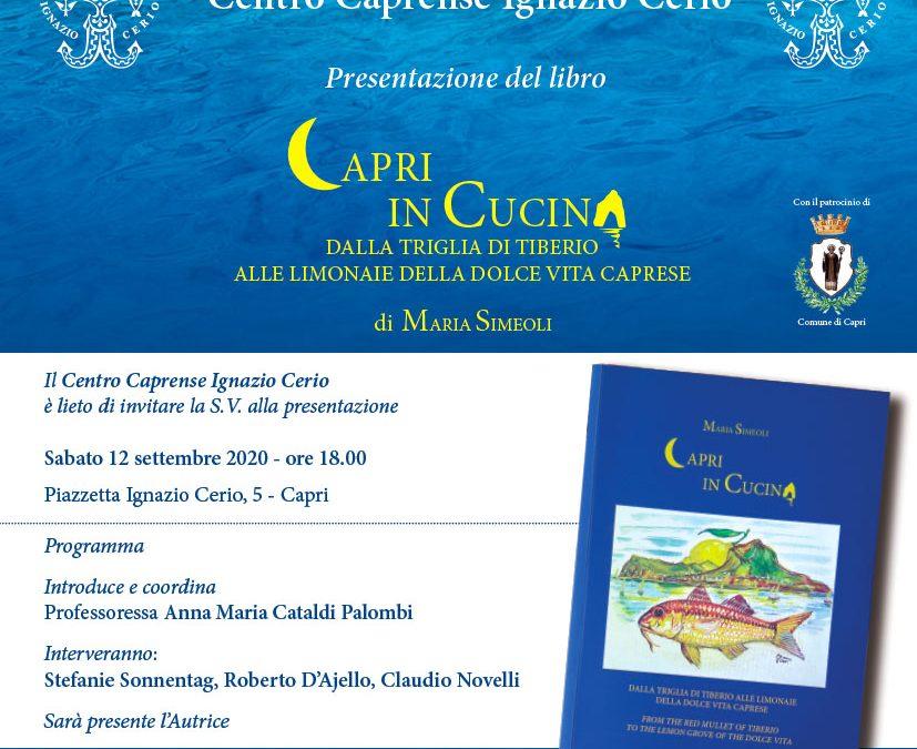 Presentazione del libro Capri in cucina di Maria Simeoli