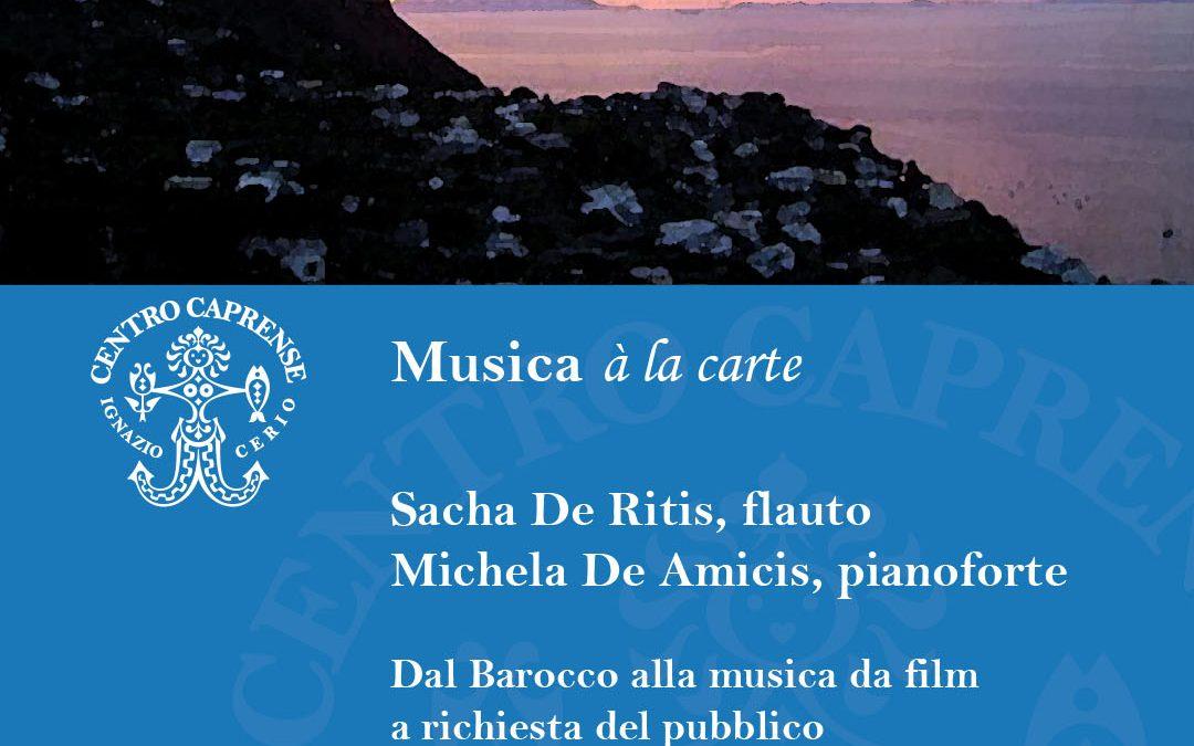 Concerto Musica à la carte, sabato 28 agosto 2021